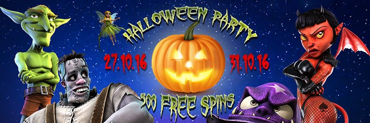 Trick or treat! Get 100 Free Spins every day from Oct. 27th to Oct. 31st.